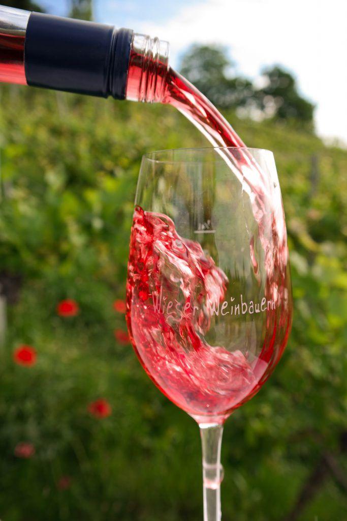 Weinglas mit Schilcher